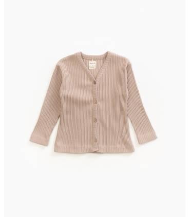 Ribbed knit jacket | Play up