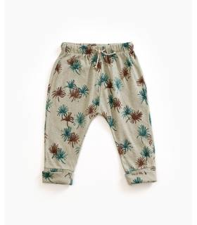 PLAY UP Organic cotton and linen printed trousers