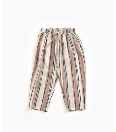 Striped cotton trousers |...