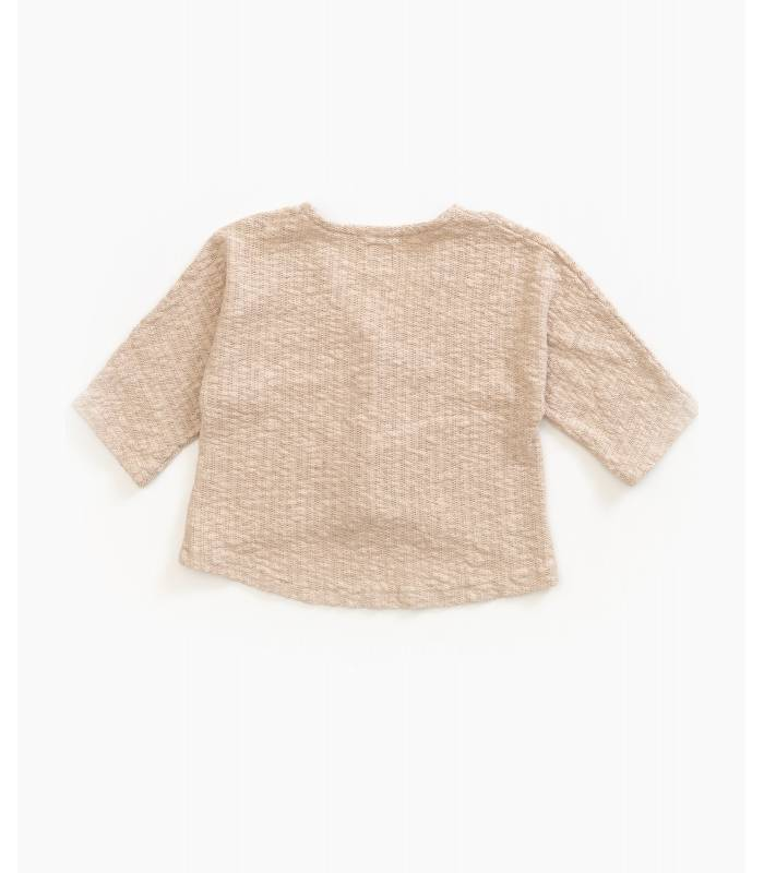 PLAY UP Knitted wooden button jacket