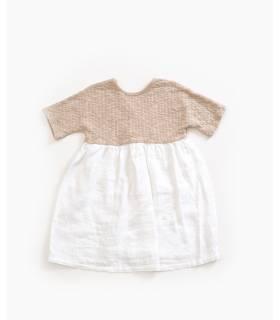 PLAY UP Vestido mezcla de lino algodón orgánico