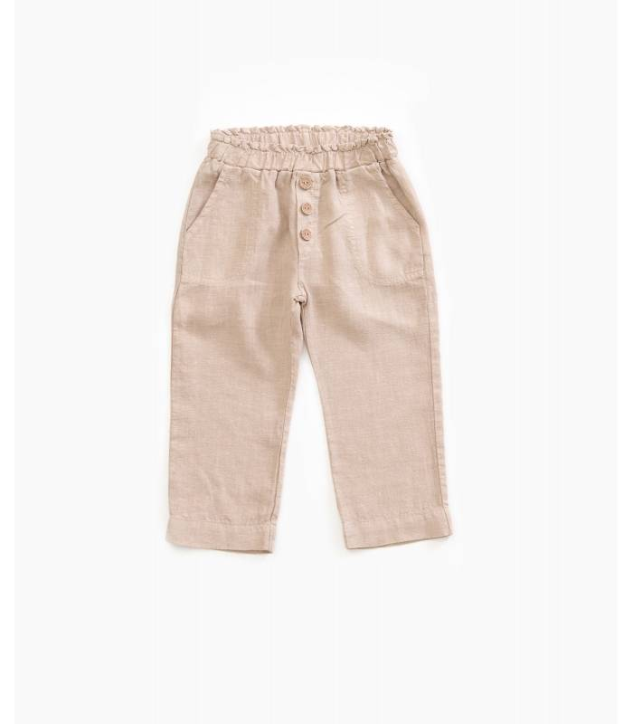 PLAY UP Linen trousers with pockets