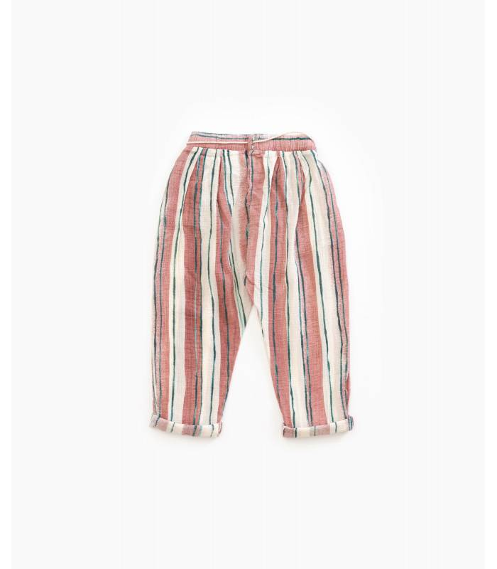 PLAY UP Pantalón de rayas algodón