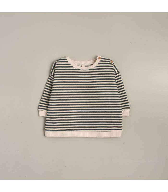 ORGANIC ZOO STRIPES SWEATSHIRT