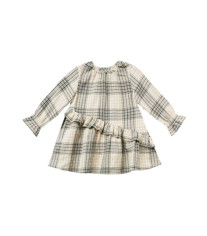 RYLEE & CRU HAZEL DRESS FOREST FLANNEL