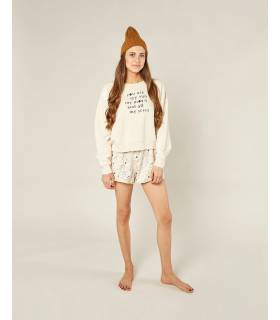 RYLEE & CRU BOXY PULLOVER NATURAL
