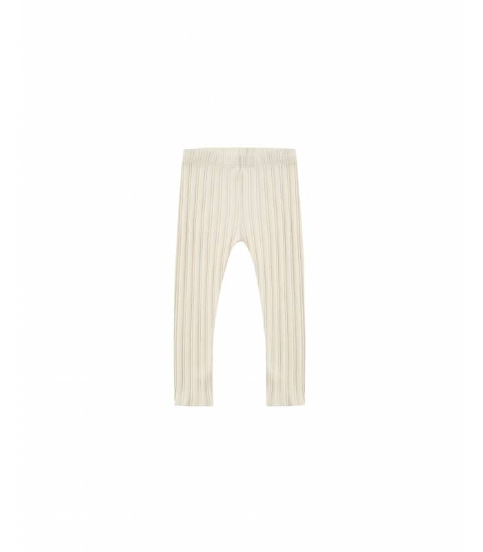 RYLEE & CRU RIBBED LEGGING NATURAL