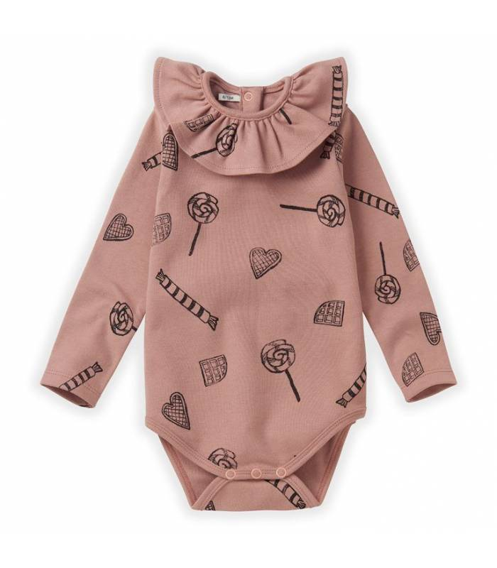 SPROET & SPROUT ROMPER COLLAR CANDY AOP