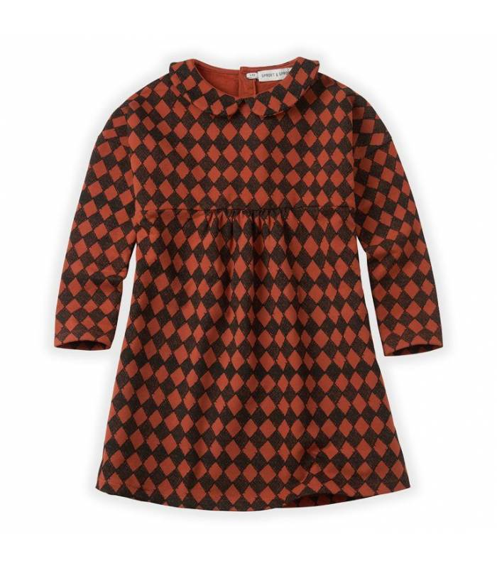 SPROET & SPROUT DRESS COLLAR HARLEQUIN CHECK
