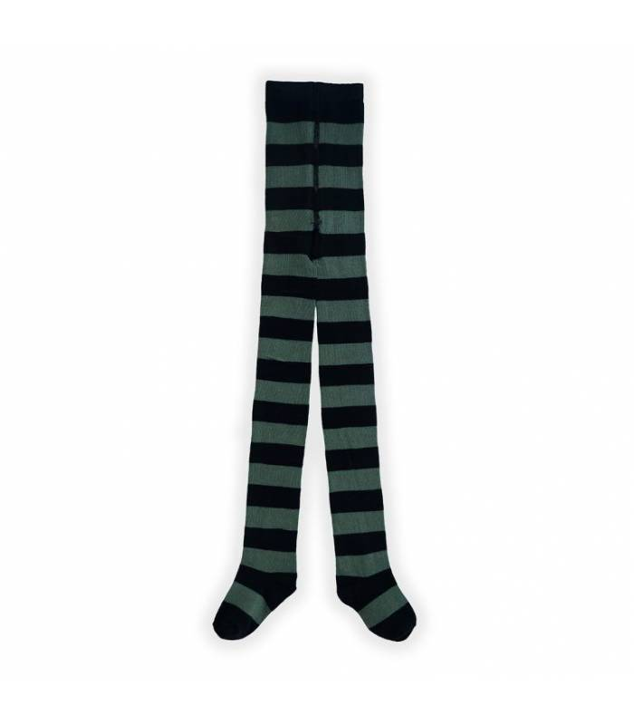 SPROET & SPROUT TIGHTS DUSTY GREEN STRIPE