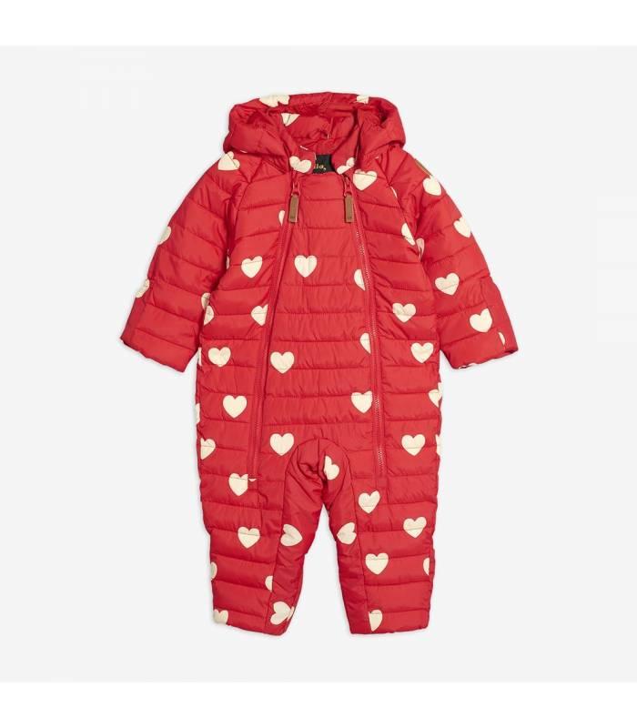 MINI RODINI HEARTS BABY OVERALL