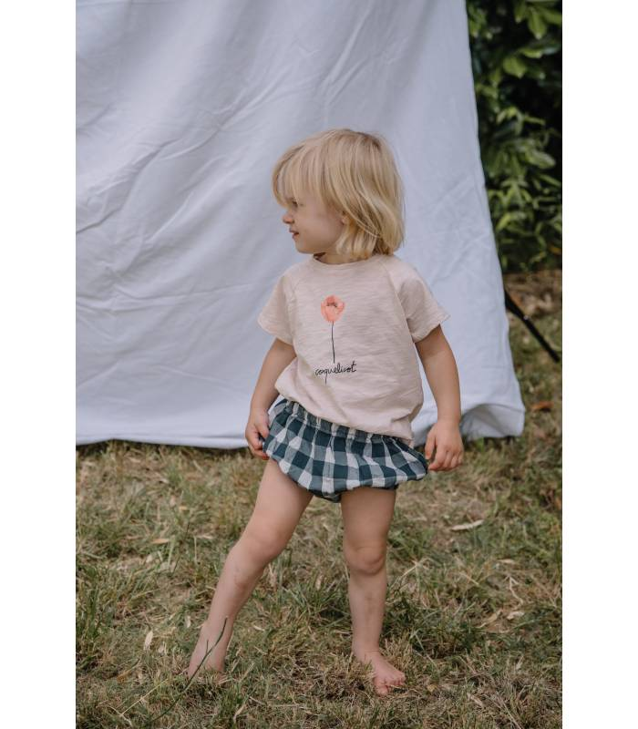 """OWL T-SHIRT """"COQUELICOT"""" BABY"""