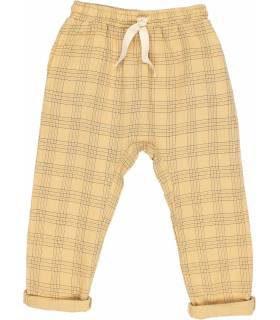 OWL LONG CHECK PRINT TROUSERS