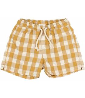 BÚHO BOY'S CHECKED SWIMSUIT VICHY MUSTARD