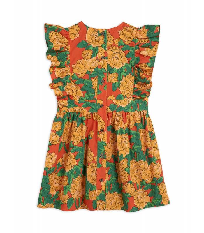 Mini Rodini Peonies Woven Ruffle Dress