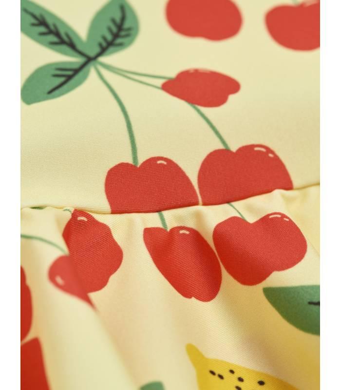 Mini Rodini Cherry Lemonade UV Swimsuit With Skirt