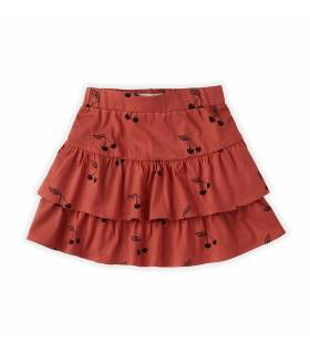 Sproet&Sprout Skirt Ruffle Print Cherry