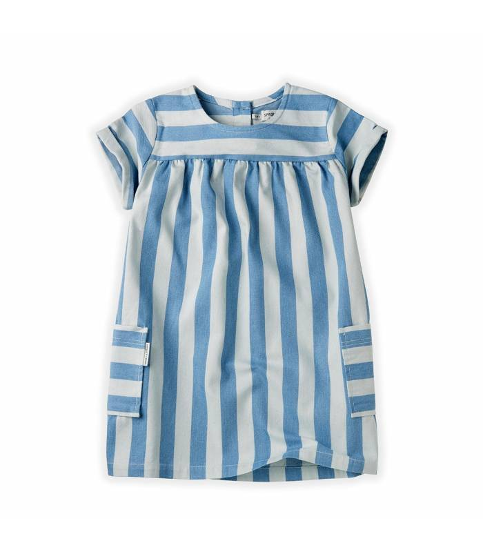 Sproet&Sprout Dress Denim Stripe