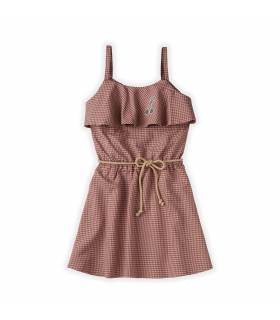 Sproet&Sprout Ruffle Dress Mini Check