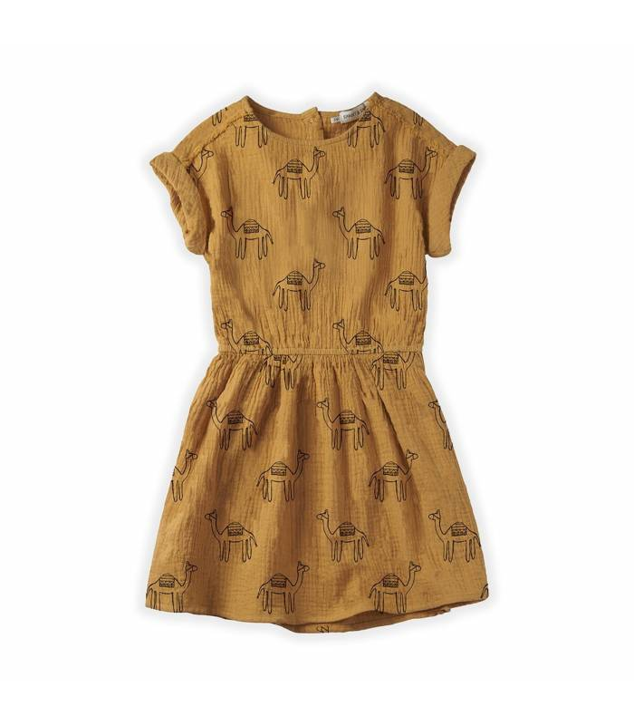 Sproet&Sprout Dress Camel Print