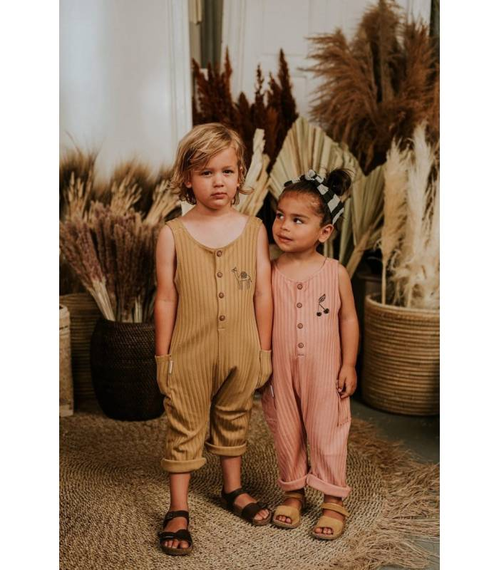 Sproet&Sprout Jumpsuit Rib Camel