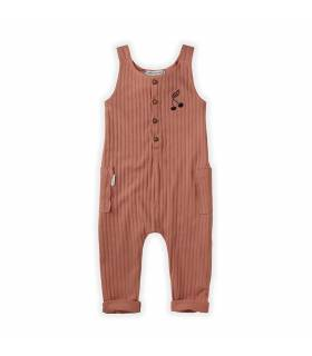 Sproet&Sprout Jumpsuit Rib Cherry
