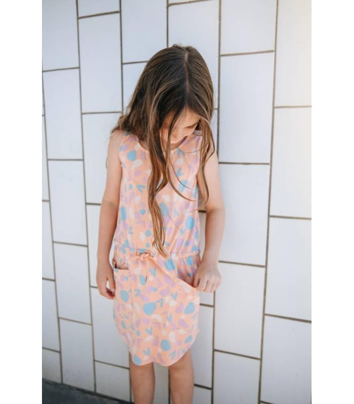 SOFT GALLERY Vestido Hazel Estampado Rosa Melocotón