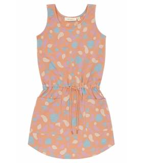 SOFT GALLERY Hazel Dress Peach Pink Print