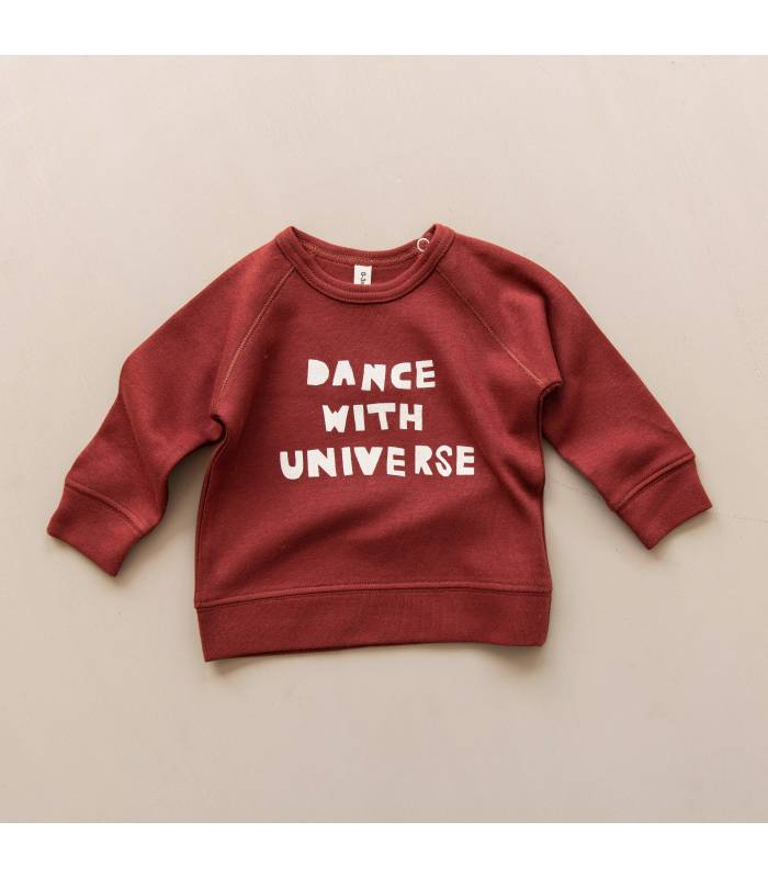 ORGANIC ZOO DANCE WITH UNIVERSE BURGUNDY JERSEY