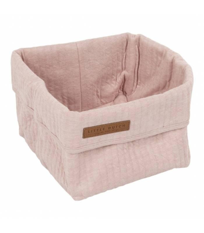 LITTLE DUTCH Cesta de armazenamento rosa