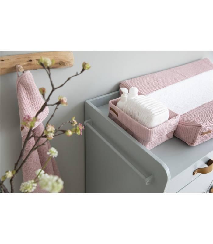 LITTLE DUTCH Grande cesto de armazenamento rosa