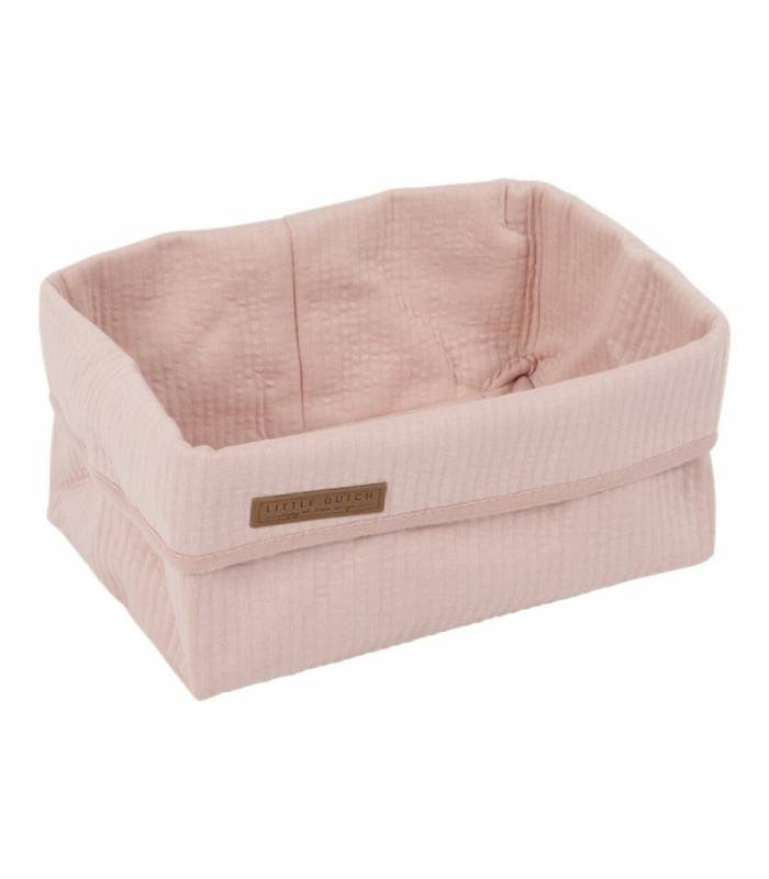 LITTLE DUTCH Pink Large Storage Basket