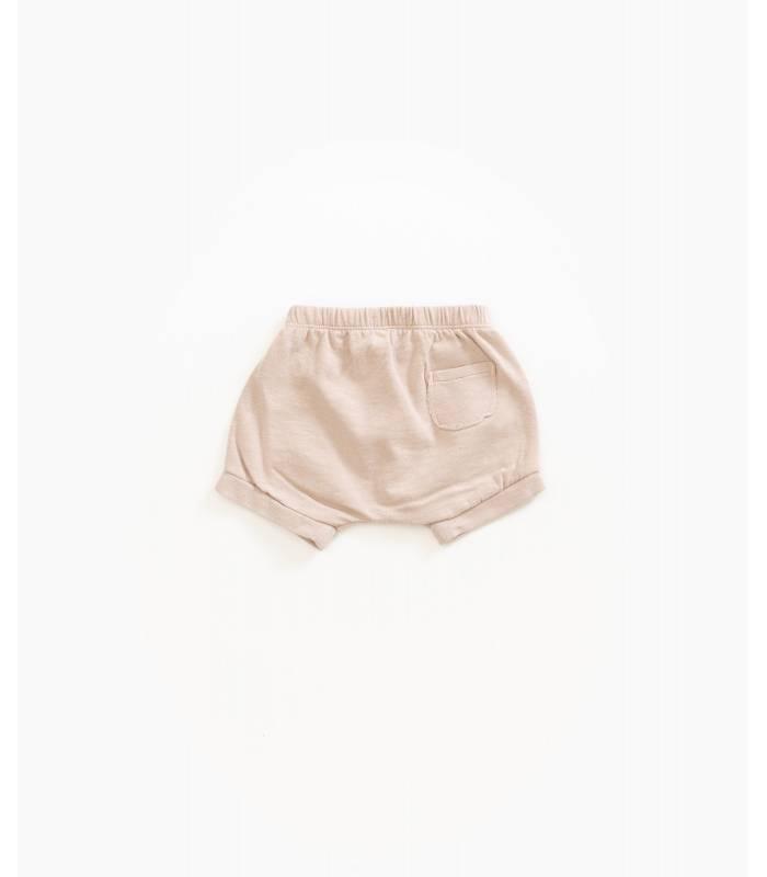 PLAY UP Shorts de algodão orgânico com bolso
