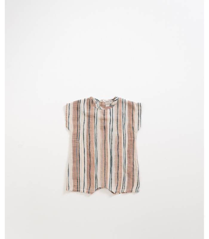 PLAY UP Striped cotton jumpsuit