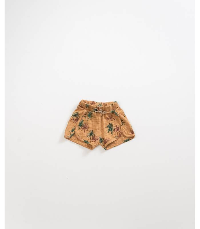 PLAY UP Palm trees cotton shorts