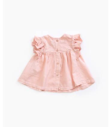 Ruffled organic cotton...