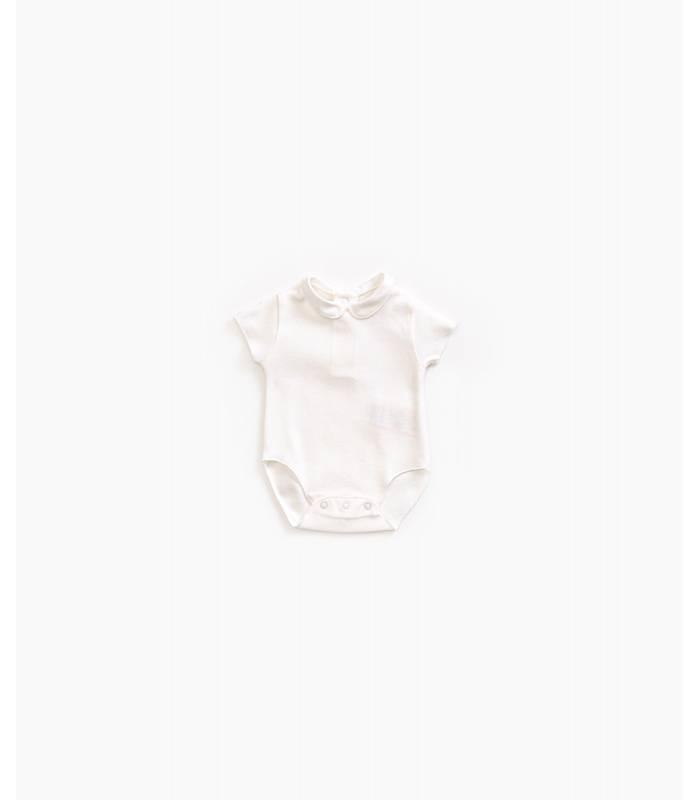 PLAY UP Organic cotton bib neck bodysuit