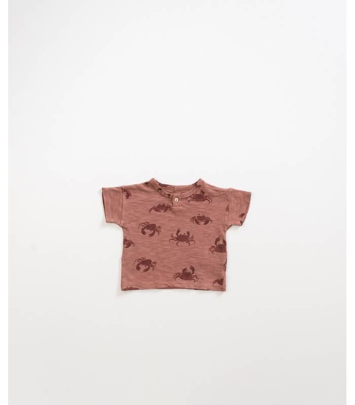 PLAY UP Camiseta de algodão orgânico caranguejo