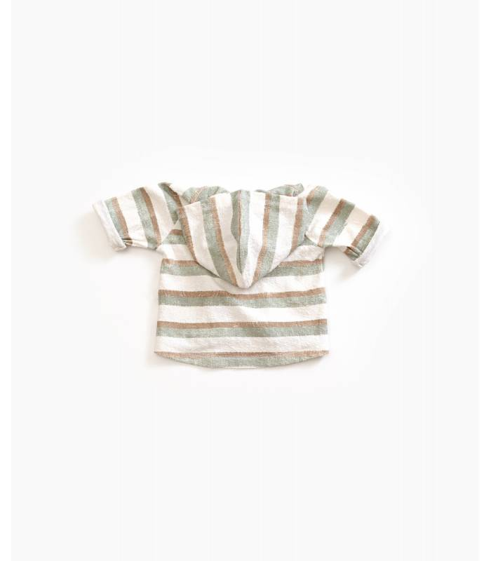 PLAY UP Organic cotton striped jacket