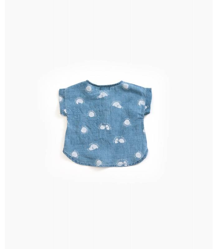PLAY UP Printed linen shirt