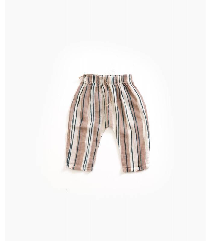 PLAY UP Pantalon en coton rayé