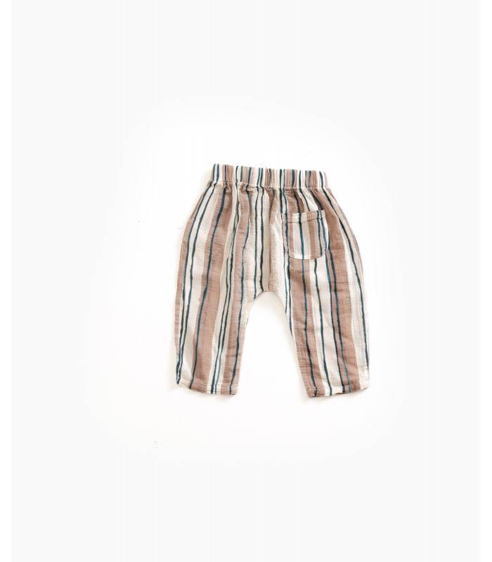 PLAY UP Striped cotton trousers