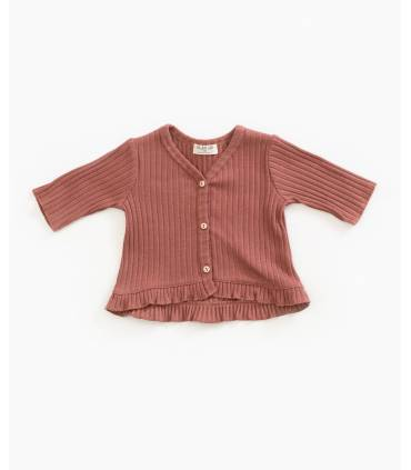Cardigan with ruffle | Play up