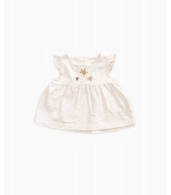 PLAY UP Embroidered ruffle top