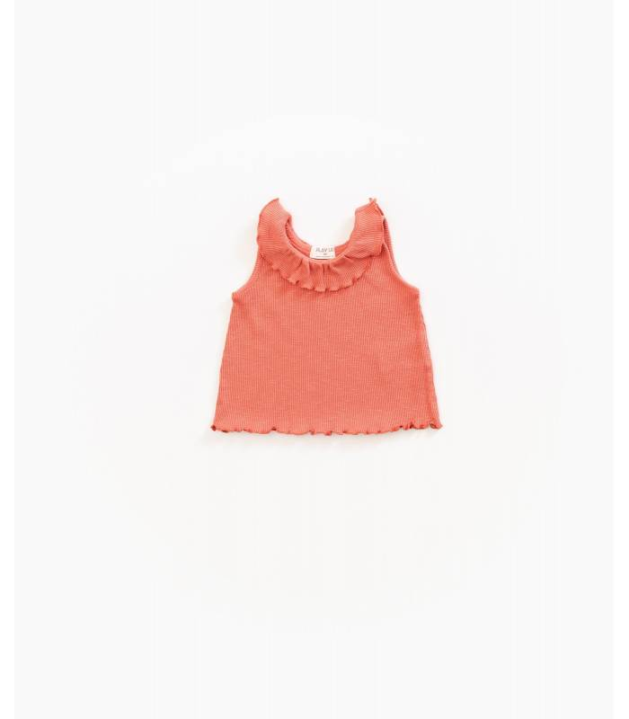 PLAY UP Organic cotton tank top with ruffle