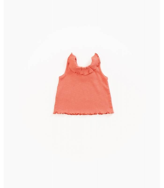 PLAY UP Camiseta de algodão orgânico com babado