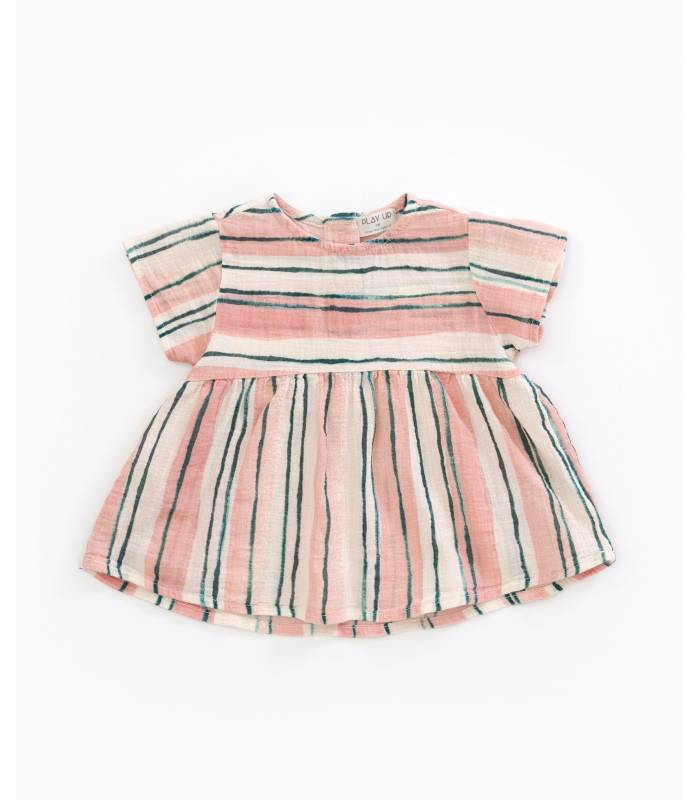 PLAY UP Striped cotton tunic
